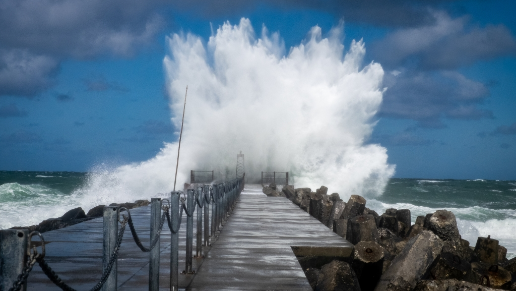 """The so-called """"Big Pier"""" that takes some heavy waves at times. Fascinating!"""