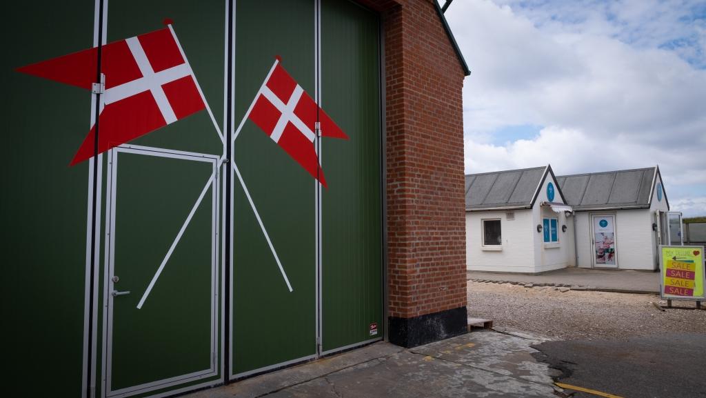 Danish flags.