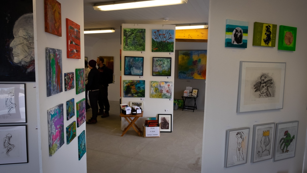 Little art gallery in Vorupør.