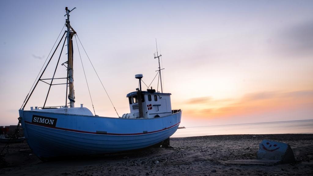 Fishing boat in Vorupør.