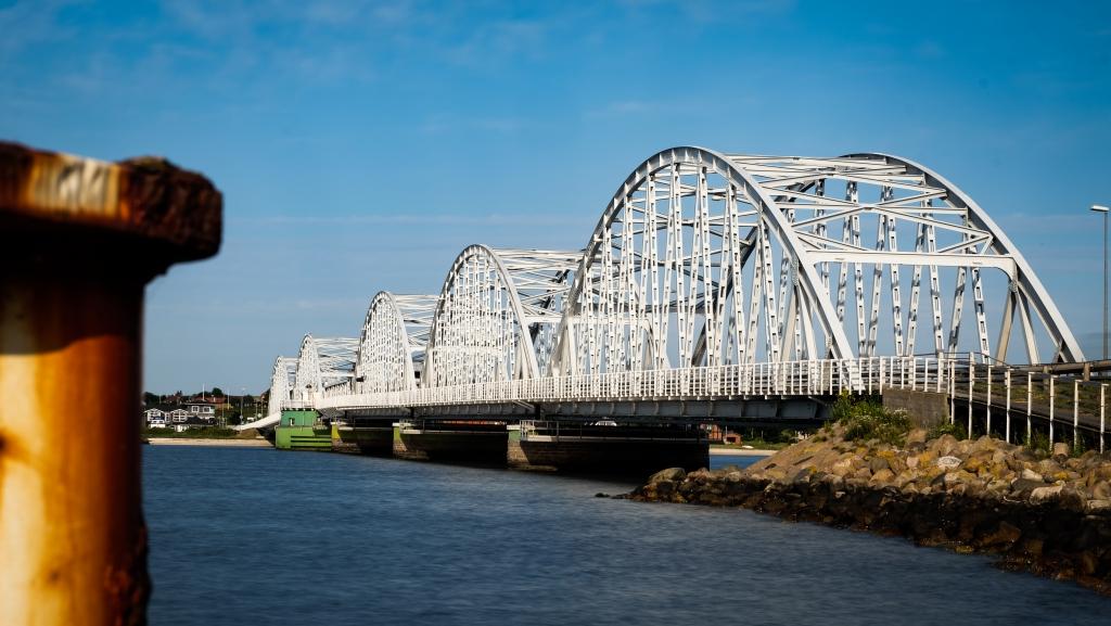 Iconic bridge in Vilsund, a little city close to Vorupør.